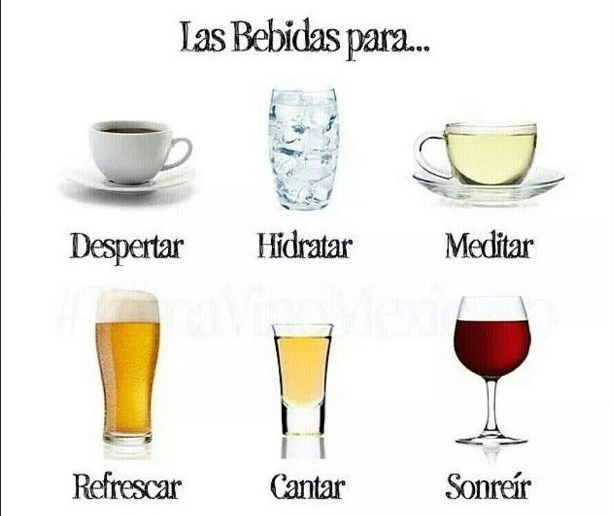 Cada bebida en su ocasión adecuada