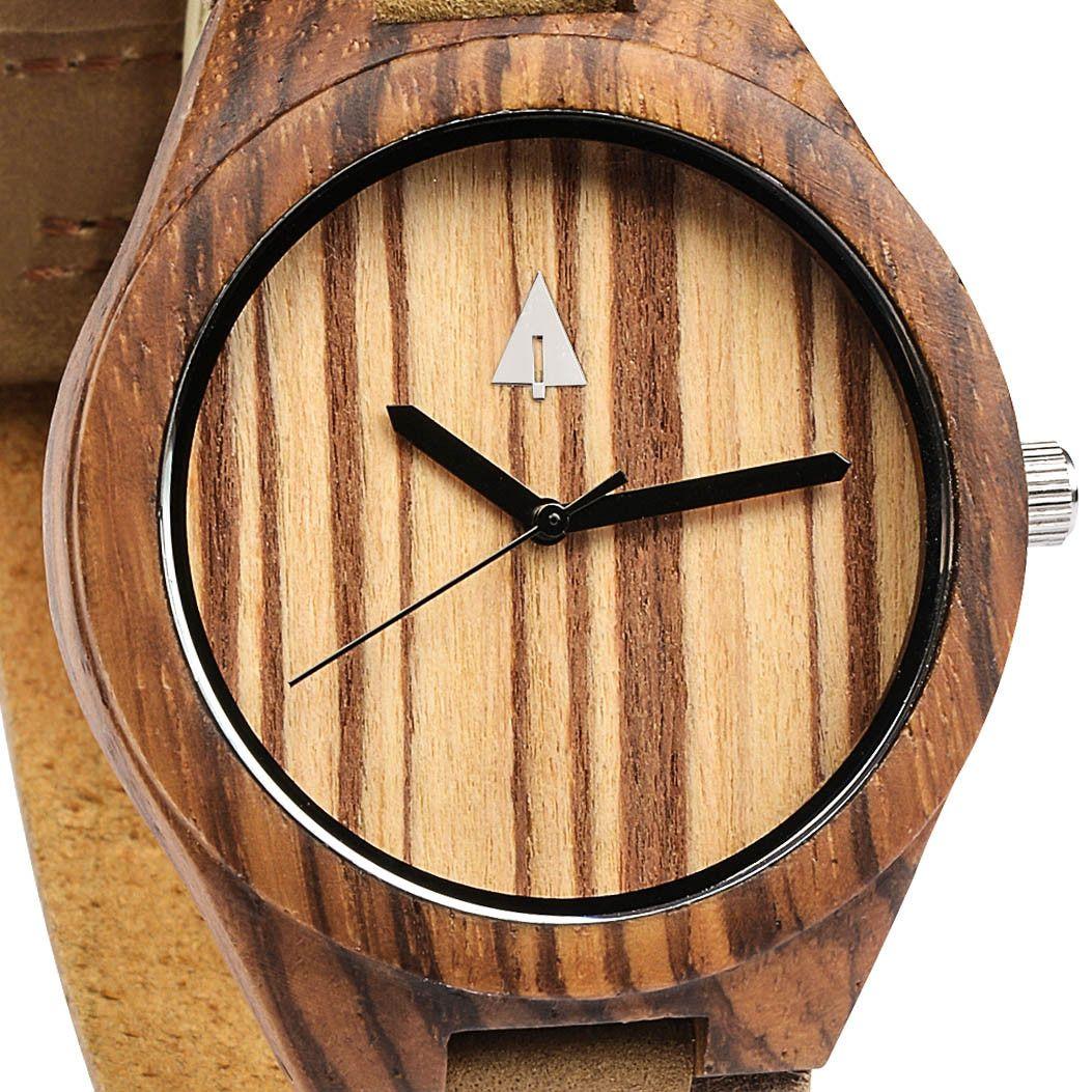 Tree Hut Wooden Watch | Zebra Wood