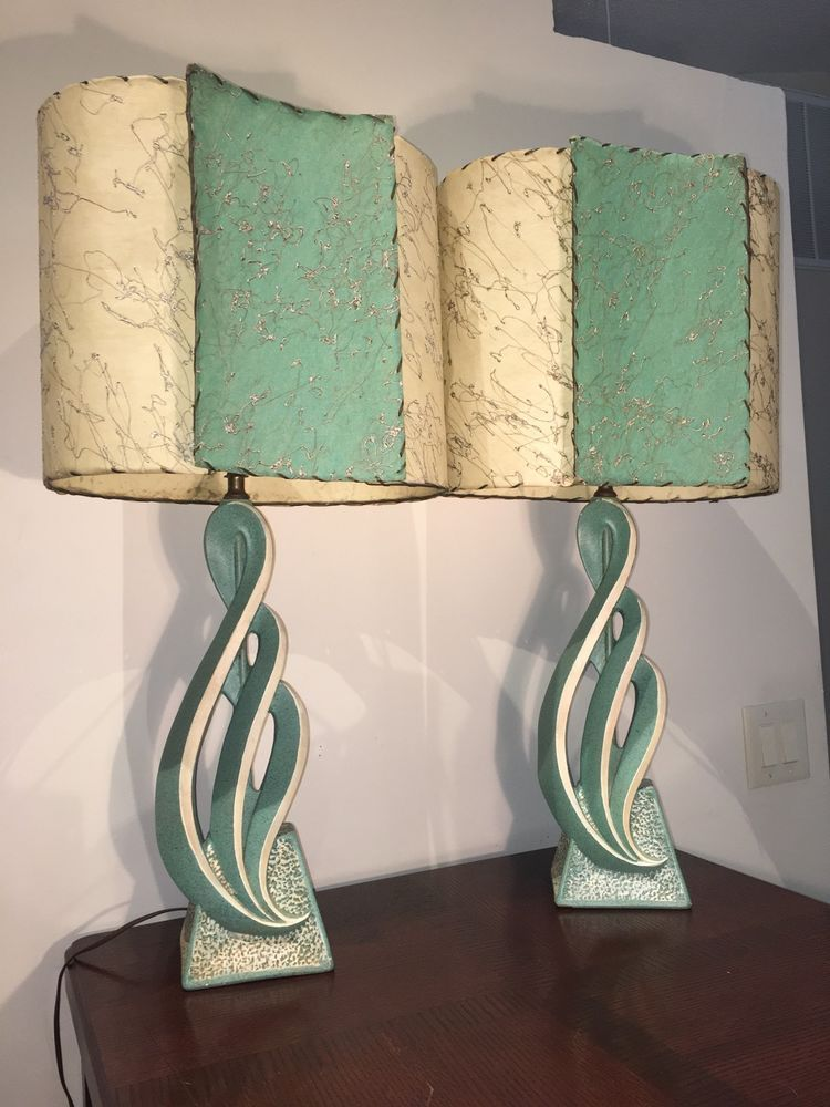 1950 S Atomic Lamps Fiberglass Shades Majestic Mid Century Modern Mid Century Modern Lamps Mid Century Lamp Mid Century Modern Decor