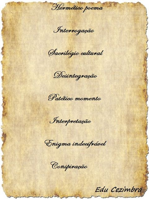 Edu Cezimbra: Hermetismo
