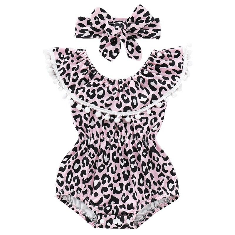 2019 NEW Toddler Baby Girls Romper little Girls Jumpsuit Newborm leopard Roupas clothing Clothes Sunsuit Outfits 0-18M #babygirlhairstyles