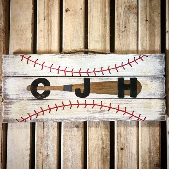 Baseball Room Sign Nursery Name Decor