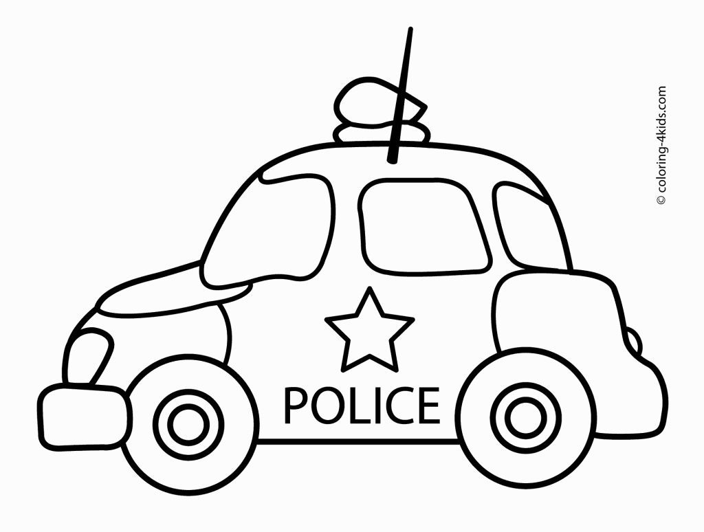 O coloring pages preschool - Police Car Coloring Pages Preschool Transportationtransportation