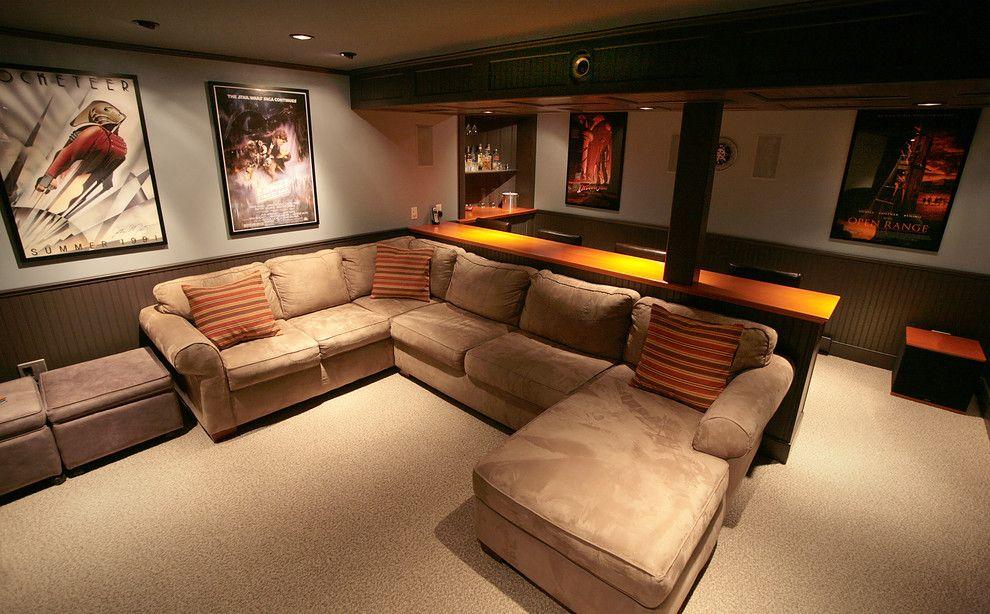 Basement Remodeling Boston Decor basement home theater - traditional - media room - boston