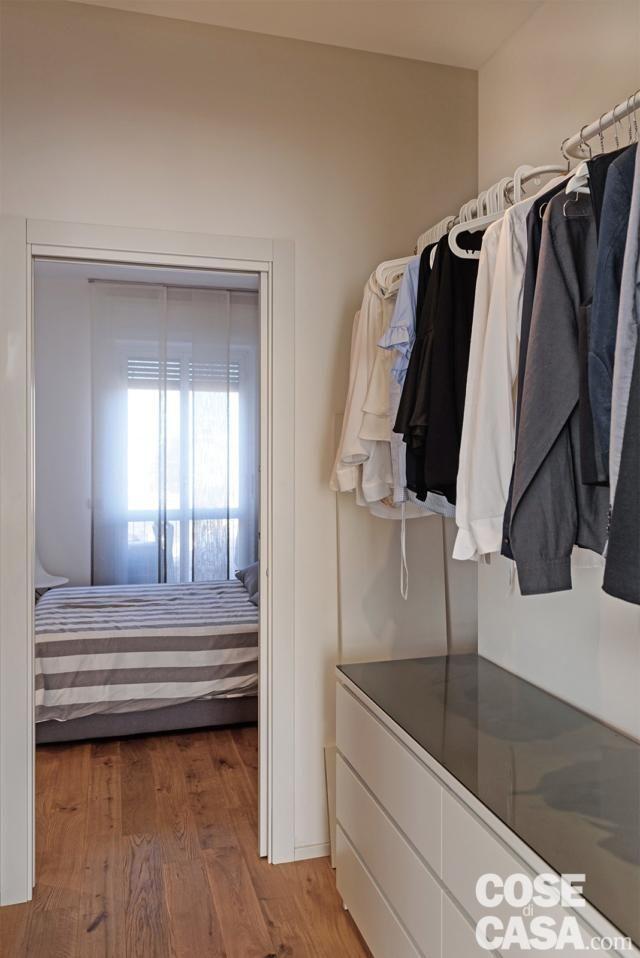 Open space per soggiorno cucina e zona pranzo | armadio | Camera da ...