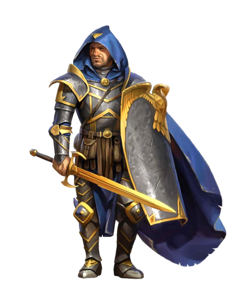 Male Human Eagle Knight Fighter Sword Shield - Pathfinder 2E PFRPG DND D&D 3.5 5E 5th ed d20 ...