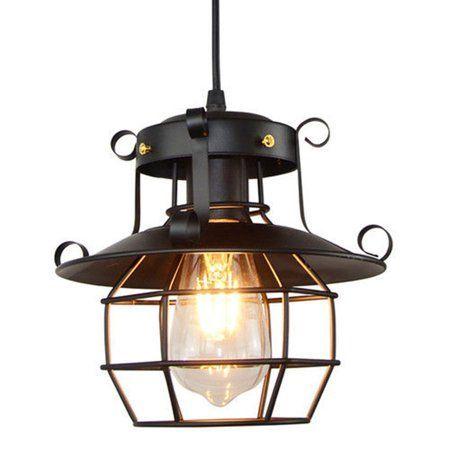Aimeeli Vintage Industrial Style Metal Cage Wire Frame Ceiling Pendant Light Lamp  aimeeli