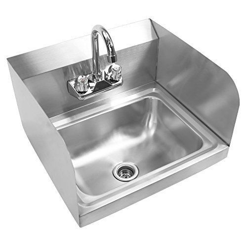 Gridmann Commercial Stainless Steel Wall Mount Hand Washing Sink w/ Faucet & #NotApplicable