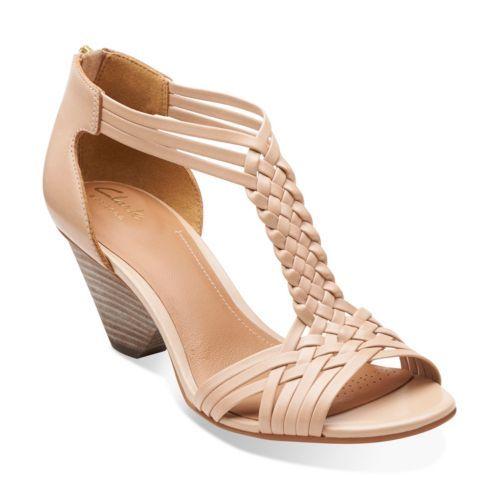 Ranae Monique Nude Leather - Womens Medium Width Shoes - Clarks