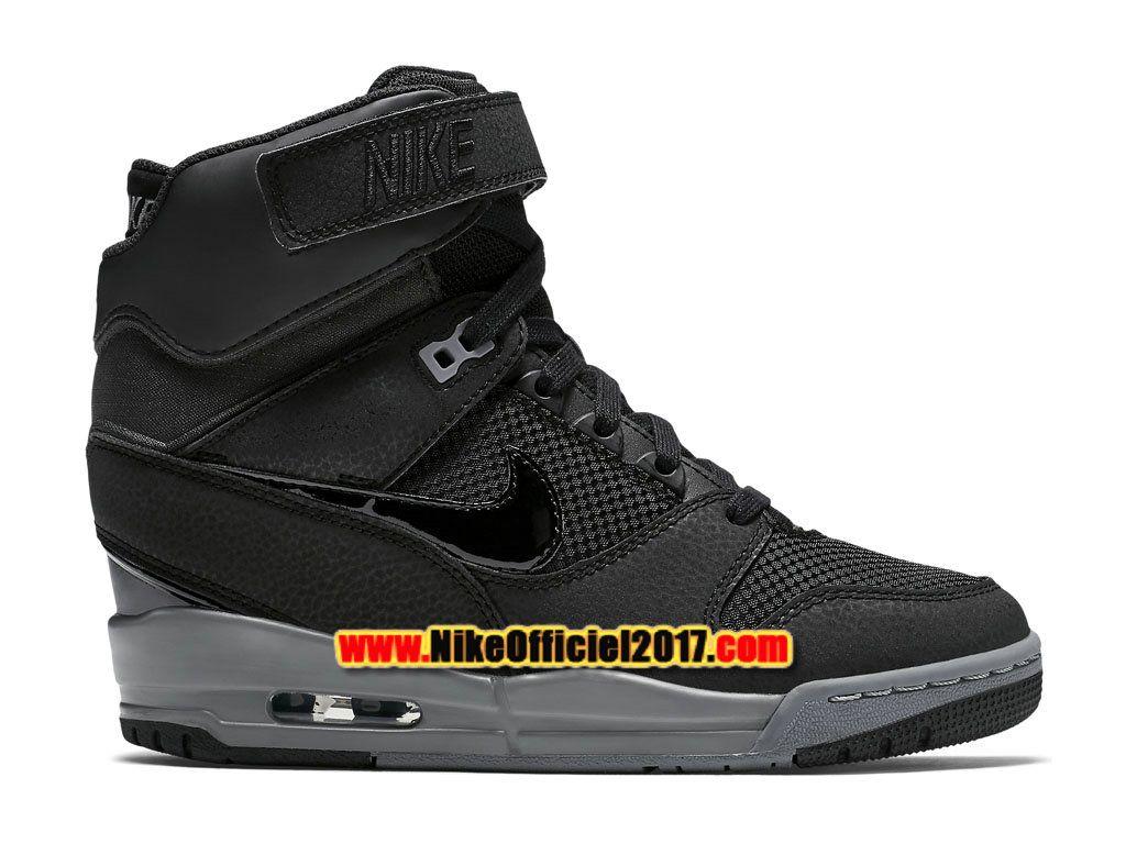 Nike Wmns Air Revolution Sky Hi 2015 Chaussure Montante Nike Pas Cher Pour Femme Noir/Gris 599410-017