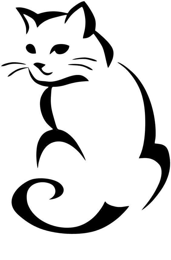Cat Svg Png Jpg Cricut Silhouette Digital File Etsy In 2020 Animal Stencil Cat Outline Cat Tattoo Designs