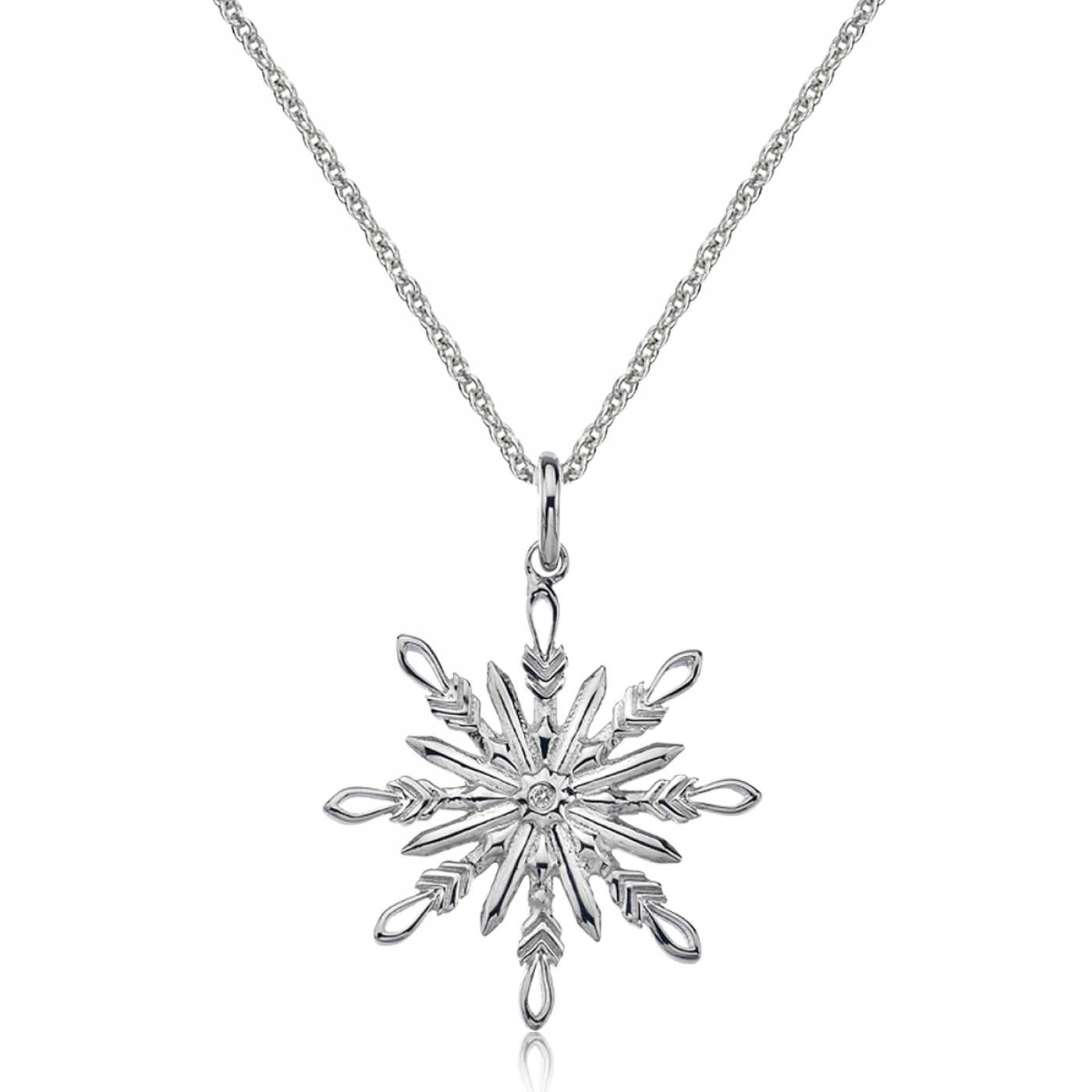 Snow Star Diamond Necklace Hot Diamonds Necklace
