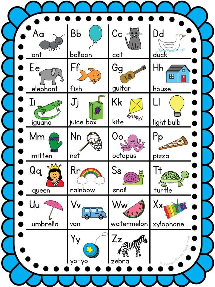Free Alphabet Chart ~ For A Third Grader To Keep In A Folder To