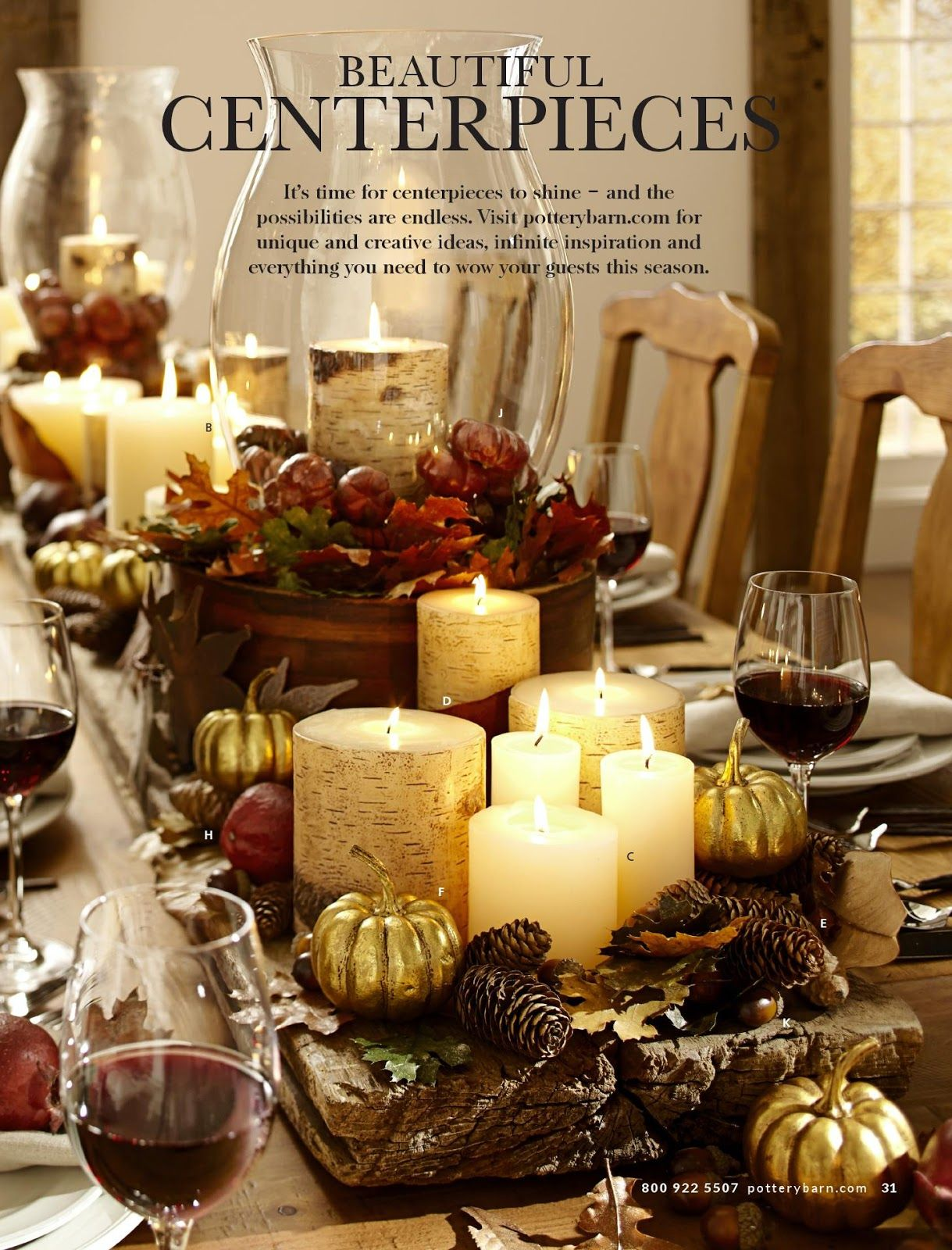 Pottery barn beautiful fall tablescapes pinterest for Pottery barn thanksgiving