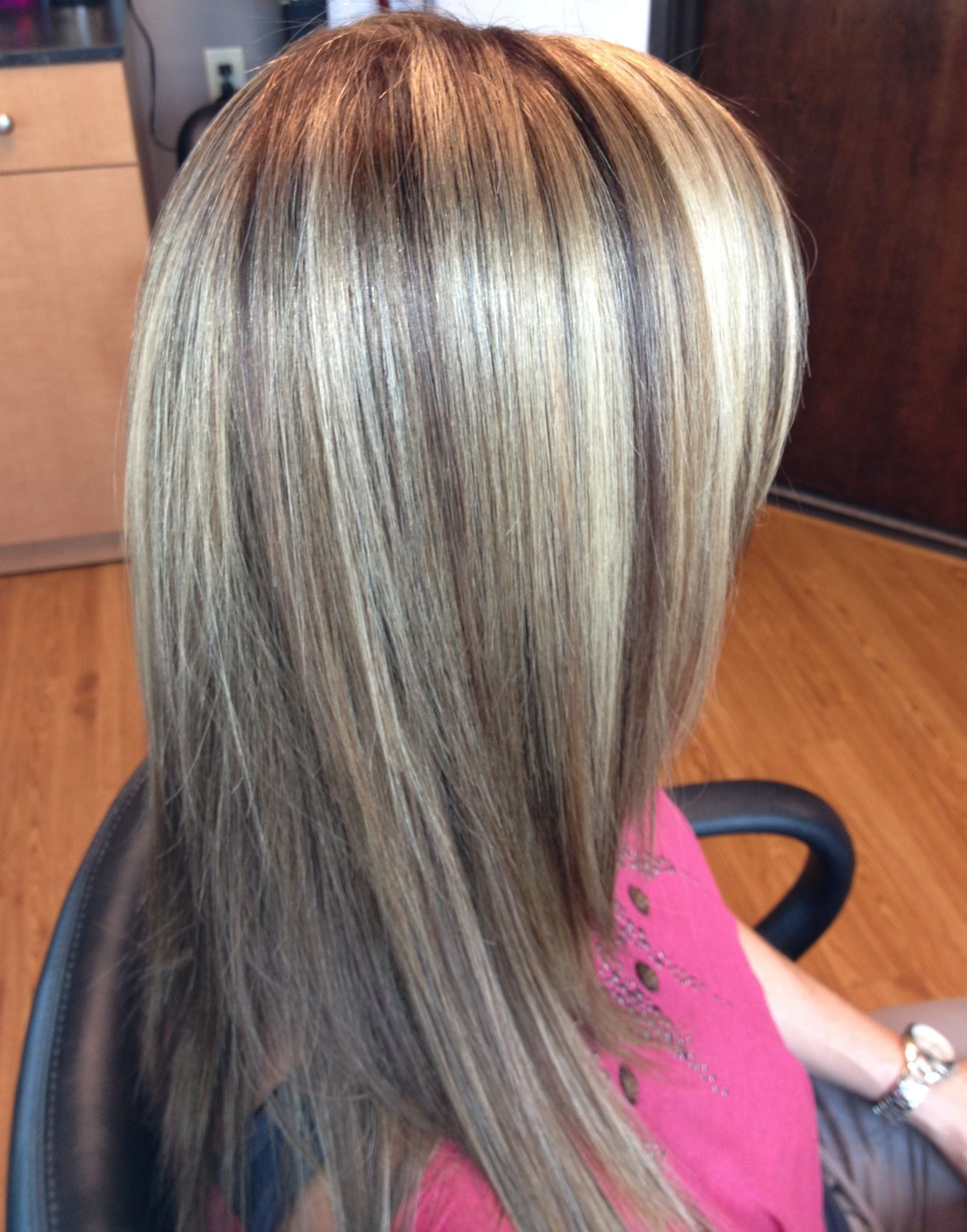 Highlights Lowlights Dimensional Color With Keratin Treatment Hair