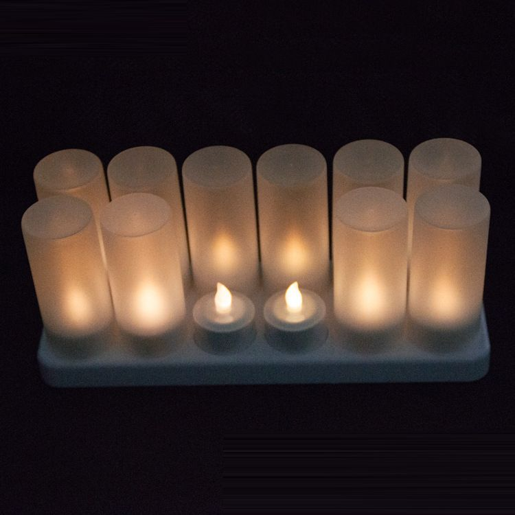12 Pack Warm White Rechargeable Led Candles Tea Lights With Remote For Table Decor Tea Lights Tea Light Candles Candles And Tea Lights