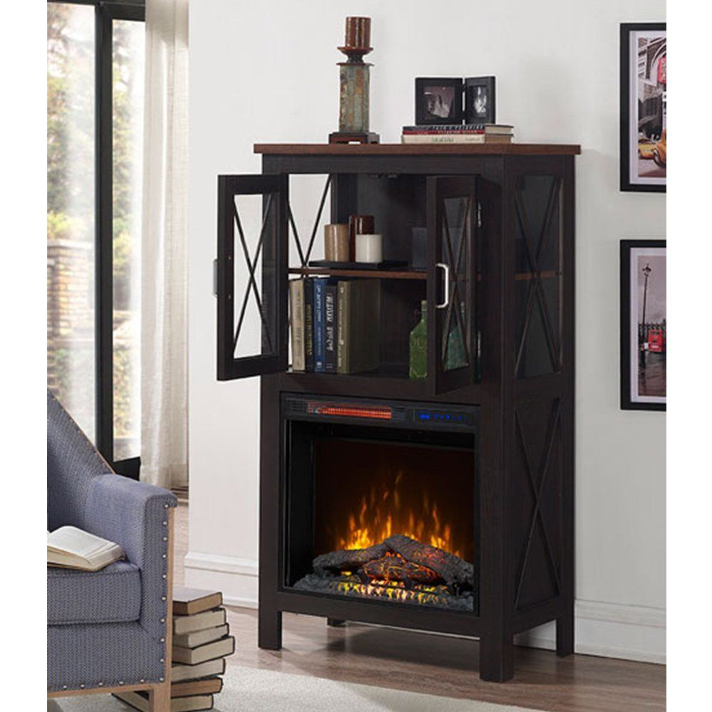 Amazon Com Mirus Industrial Style Electric Fireplace With Display