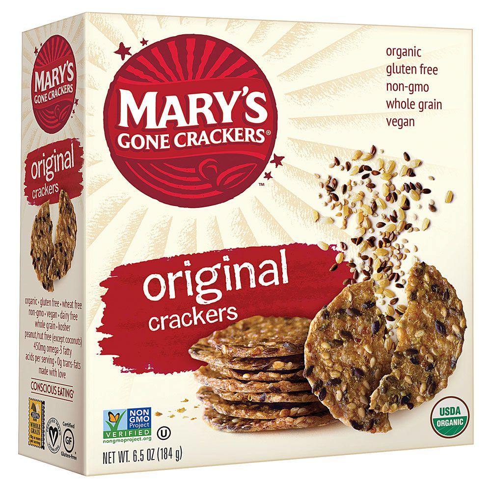Mary S Gone Crackers Organic Seed Crackers Original 6 5 Oz Organic Snacks Benefits Of Organic Food Organic Recipes