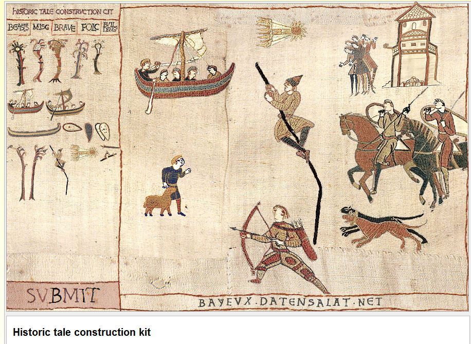 Make Your Own Bayeux Tapestry Page  Fun Meme Builder