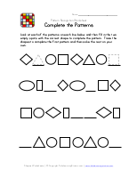 Difficult Pattern Recognition Worksheet 1 Preschool Pattern