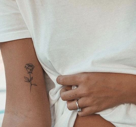 Photo of #Tattoo #Rose #Arm #Black #Small # Cute – Tattoos – Brenda O.
