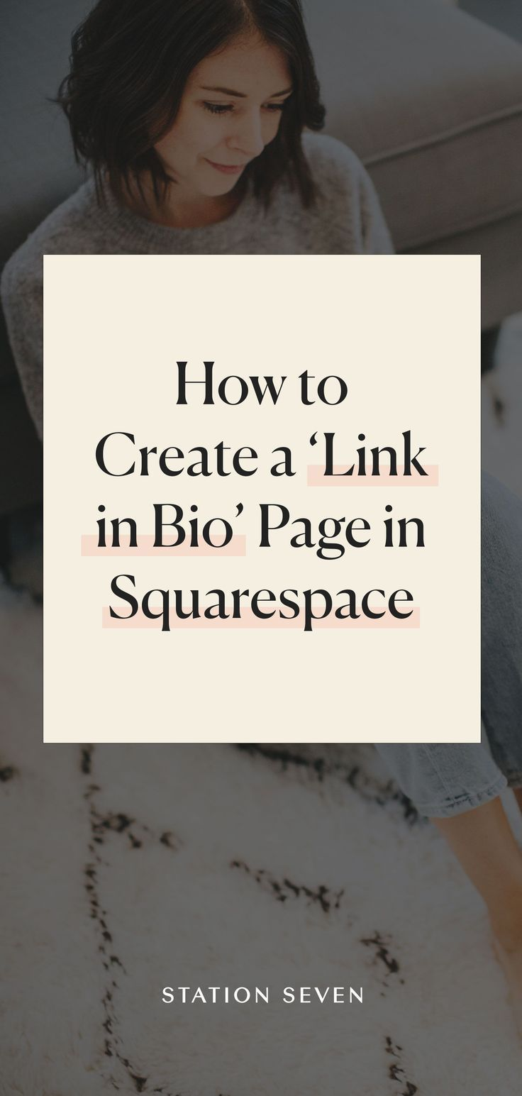 How to create a link in bio page in squarespace