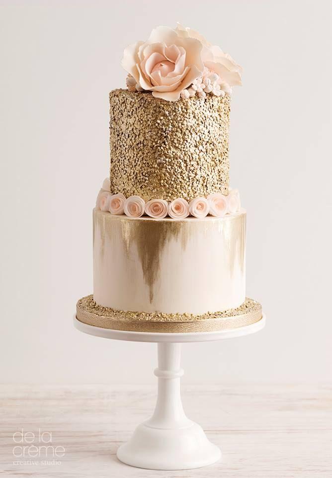 De la Creme Studio | Cakes - Gold, Metallic, Luster, Glitter