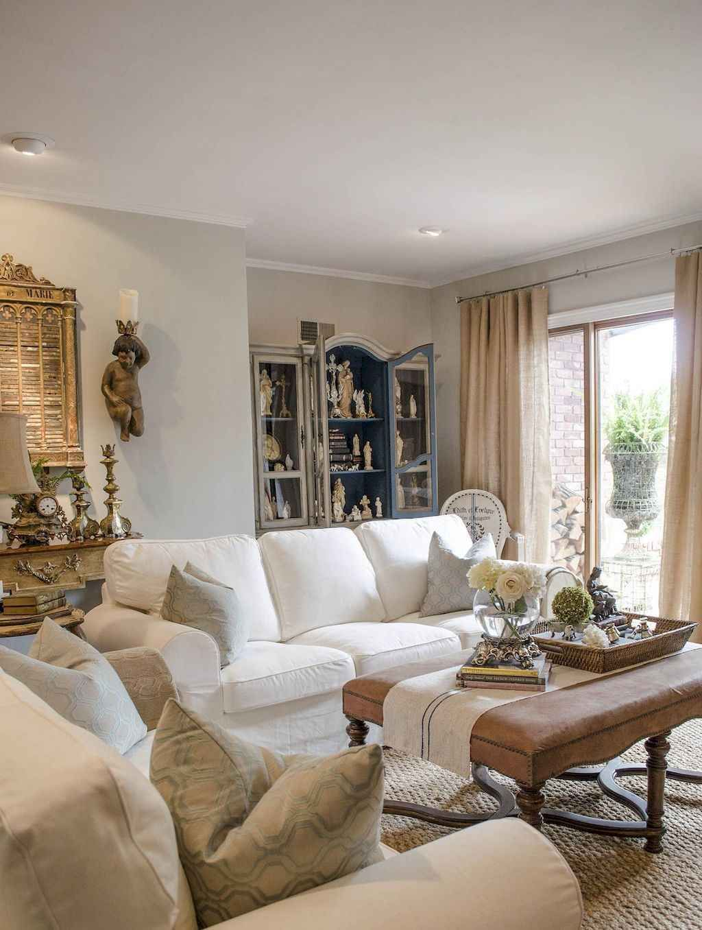 Photo of 01 Gorgeous French Country Living Room Decor Ideas – DoMakeover.com