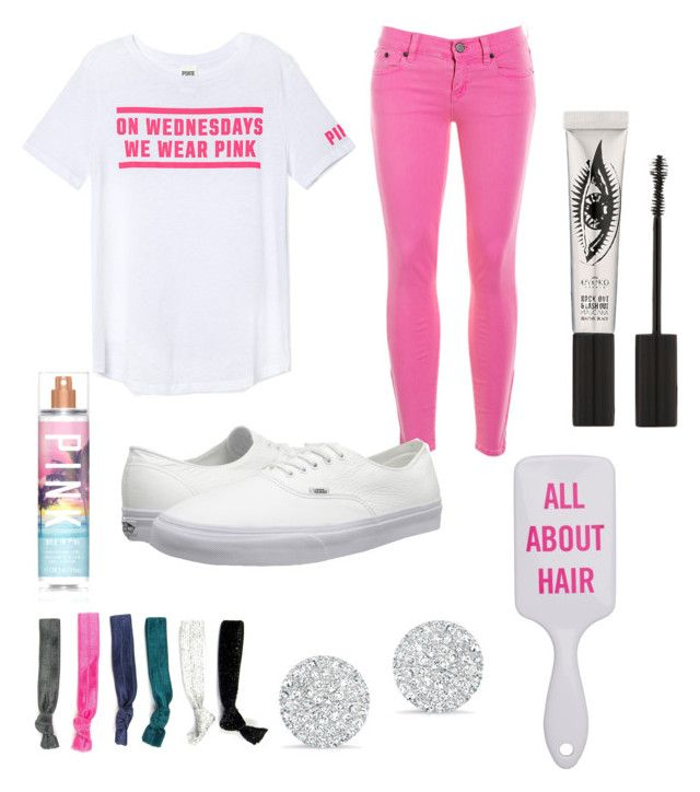 mean girls by purple-pineapple on Polyvore featuring polyvore fashion style Victoria's Secret PINK J.Crew Carole Vans Anne Sisteron Eyeko Victoria's Secret clothing