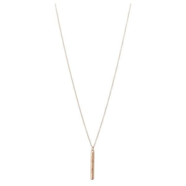 a017022bd Pre-Owned Tiffany & Co. 18K Yellow Gold 1837 Bar Pendant Necklace (30,955