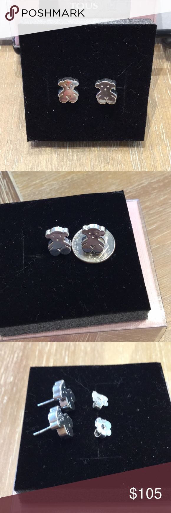 Tous Bear Silver Earrings Never Worn Tous Bear Silver Earrings Never