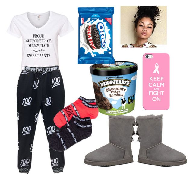"""#MessyHair&Sweatpants"" by queenawesome-mykee ❤ liked on Polyvore featuring UGG Australia and Casetify"
