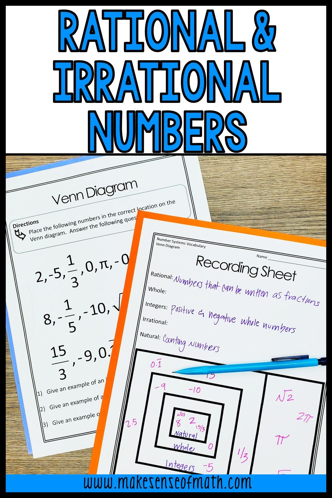 13 Rational And Irrational Numbers Worksheet