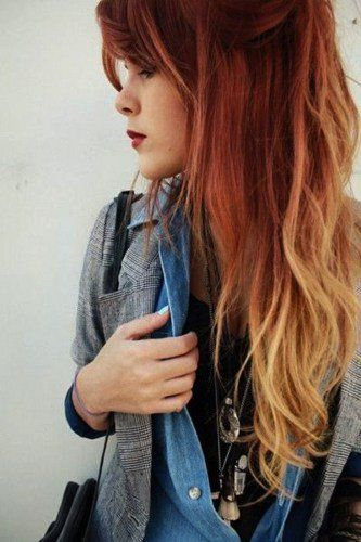 Auburn Fire Ombre A Little Extreme For Me But Cute Ombre Hair