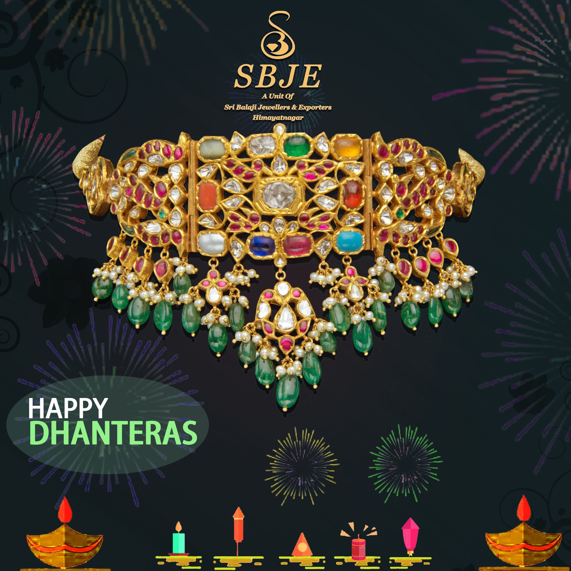HAPPY DHANTERAS FROM SRI BALAJI JEWELLERS & EXPORTERS FOR DETAILS CONTACT 8340000834 #happydhanteras HAPPY DHANTERAS FROM SRI BALAJI JEWELLERS & EXPORTERS FOR DETAILS CONTACT 8340000834 #SriBalajijewellers&exporter #sbje #diamond #southIndianjewellery #weddingjewellery #bridesofhyderabad #bridaljewellery #southindiabridalfashion #Bridalwear #himayatnagar #EXHIBITION #southindianbride #weddingjewelry  #dhanteras #happydiwali #happydhanteras