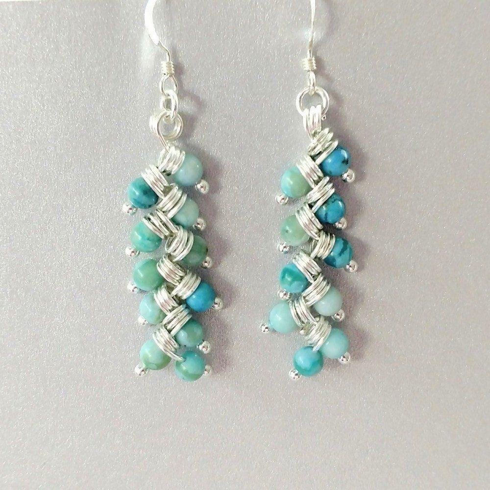 As Seen On TV Jane The Virgin Silver Turquoise Dangle Earrings ...