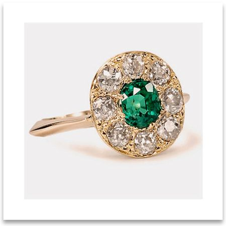 vintage emerald wedding ring - Emerald Wedding Ring