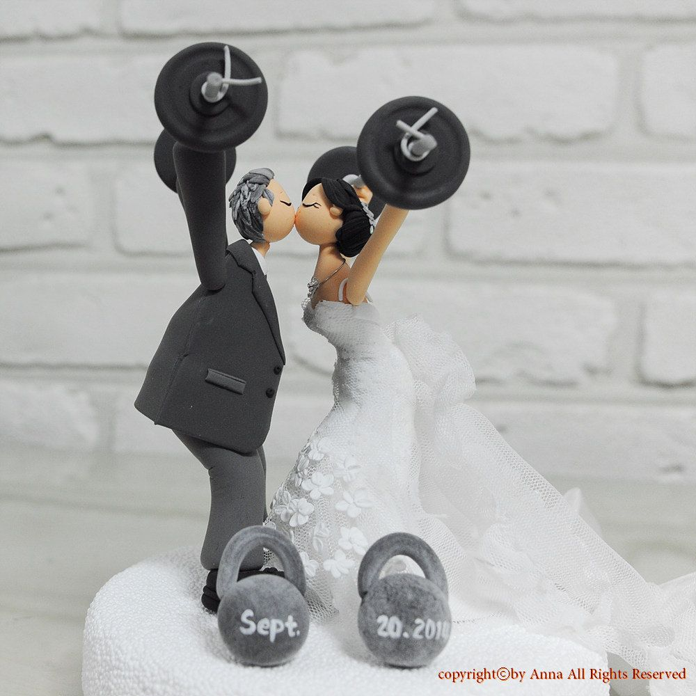Custom Cake Topper Weight Lifting Theme By Annacrafts On Etsy