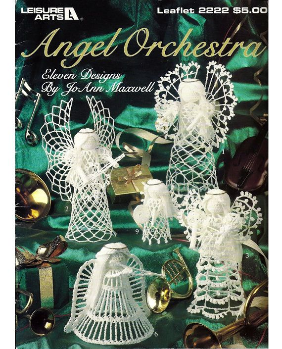 Angel orquesta-ganchillo patrón libro - ocio artes folleto 2222 ...