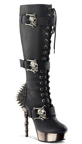 "High Heels Pleaser Shoes Damenschuhe Demonia /""MUERTO-1026/"""