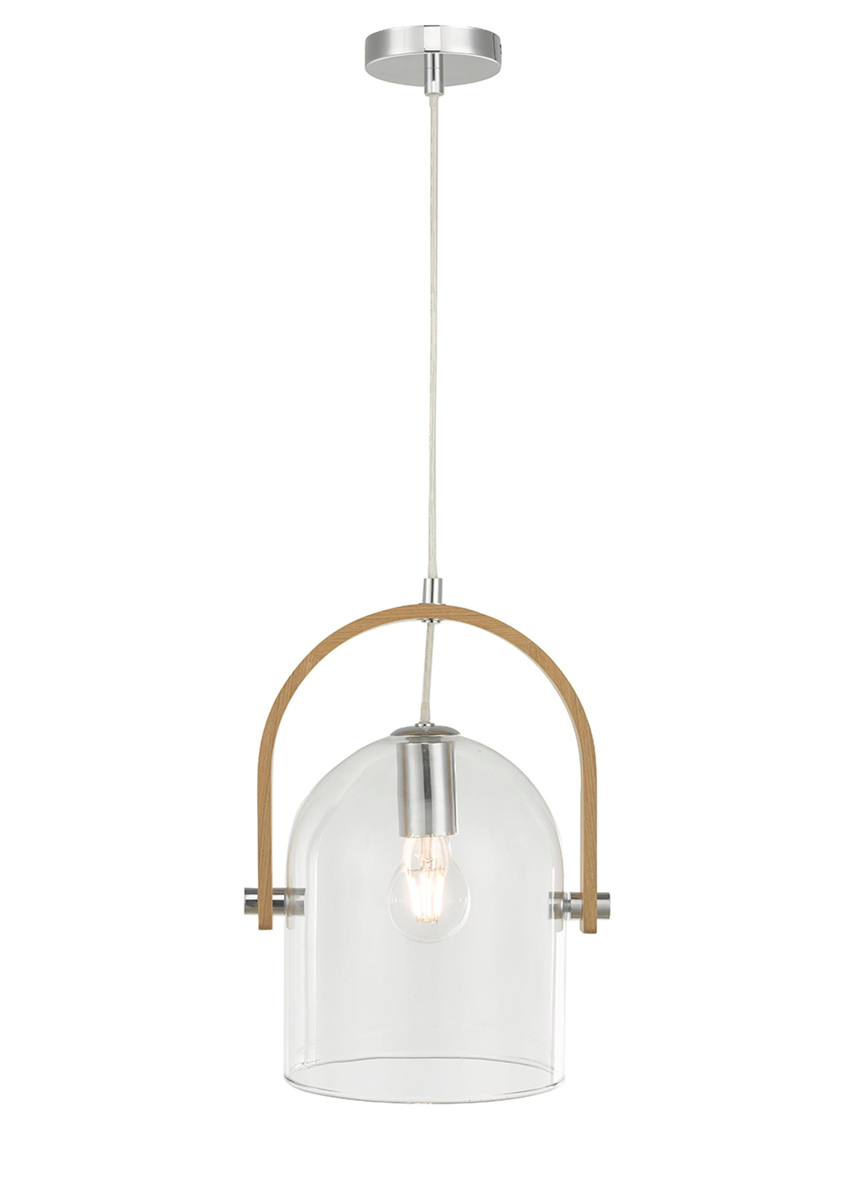 Eli Wood Gl Pendant Light H100cm 26cm X W24 4cm