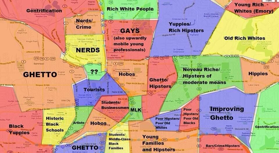 This Atlanta Map Will Offend Pretty Much Everyone