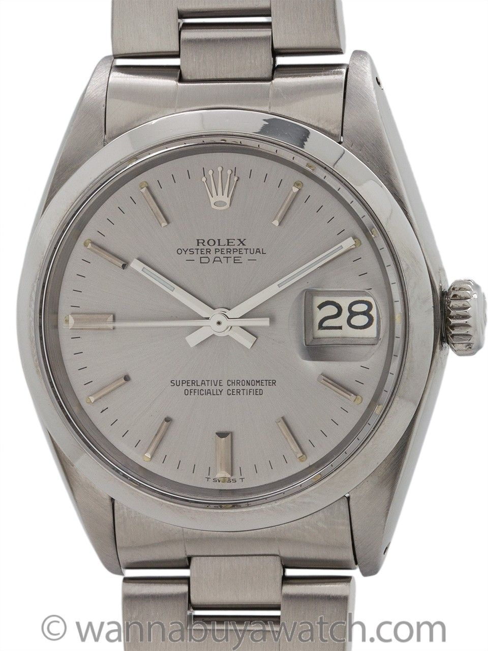 c97f59d734f Rolex ref 1500 Oyster Perpetual Date circa 1969 - Vintage man's Rolex  Stainless Steel Oyster Perpetual Date ref 1500 serial # 2.3 million circa  1969.