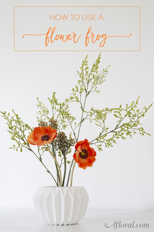 How To Use A Flower Frog | Modern flower arrangements, Artificial ...