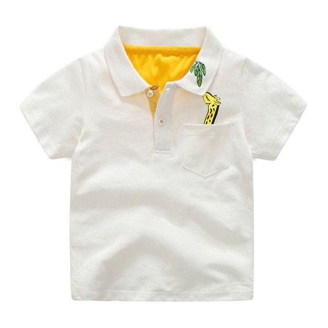 NWT Mayoral Boys/' Basic Short Sleeve Polo Shirt ~ White 4 8
