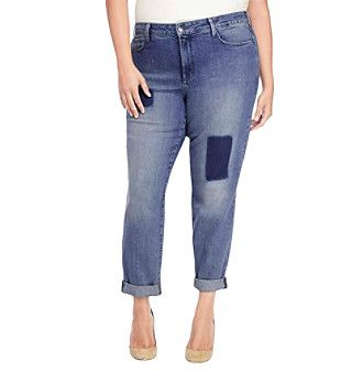 NYDJ® Plus Size Sylvia Relaxed Boyfriend Jeans