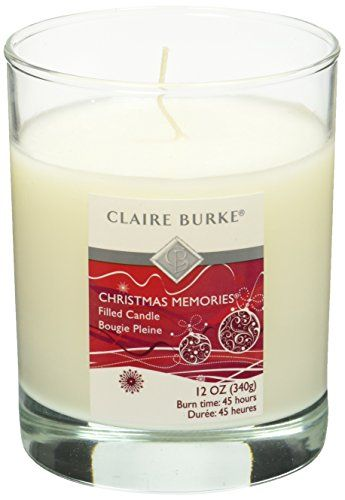 Claire Burke Filled Scented Candle, Christmas Memories >>> Learn more by visiting the image link.