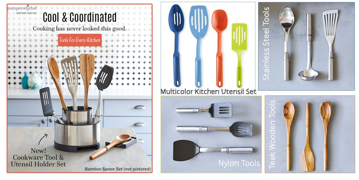 Pampered Chef Utensils Kitchen Tools Spoons Turner