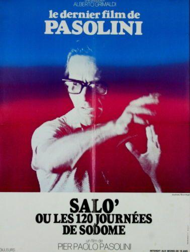 Salo Ou Les 120 Jours De Sodome : jours, sodome, SALO', JOURS, SODOME, Paolo, Pasolini, 60x80, Pasolini,, Film,