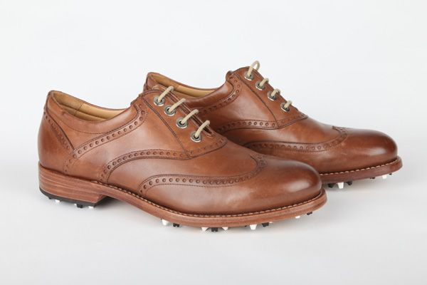 The Master, mens vintage brown leather soled golf shoes www.albartross.com